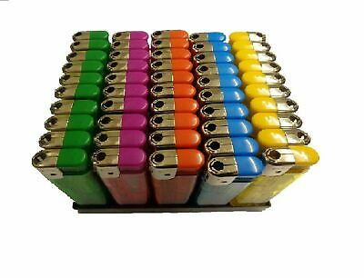 £2.69 • Buy 50 Electronic Lighters Refillable Gas Child Safety Adjustable Flame In 5 Colours