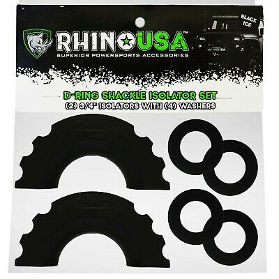 $11.52 • Buy Rhino USA D-Ring Shackle Isolators (2) With Washers Included (4)