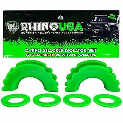 $11.52 • Buy Rhino USA D-Ring Shackle Isolators (2) With Washers Included (4) - Fits Stand...