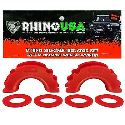 $14.39 • Buy Rhino USA D-Ring Shackle Isolators (2) With Washers Included (4)