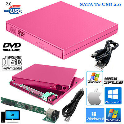 Usb To Sata Laptop Cd Dvd Combo Rw Rom Drive External Caddy Enclosure Case Cover • 7.49£