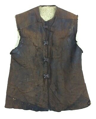 Original Great War RFC RAF Sheepskin Lined Leather Jerkin WW1 • 385£