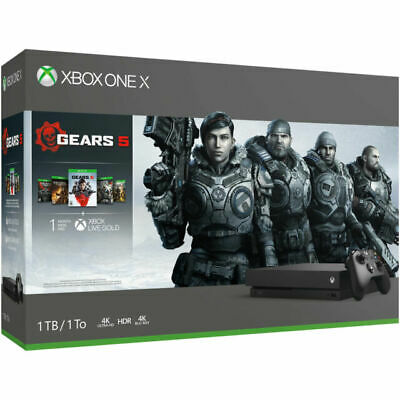 $369 • Buy Microsoft XBox One X 1TB Video Game Console With 5 Games - Black
