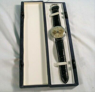 $ CDN200.48 • Buy Vintage Men's Chronograph Angelus Chronodato Wristwatch, Working, 1940's