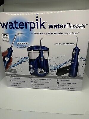 View Details Waterpik® Ultra And Cordless Plus Water Flosser Combo Model WP-113/WP-463W NIB • 69.99$