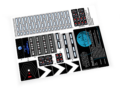 CUSTOM STICKERS For STAR WARS Lego 75159 10188 DEATH STAR ,MODELS, ETC  • 4.91£