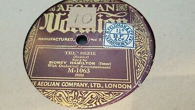 Sydney Hamilton The Sheik & Sally Vocalion M-1063 • 4.99£