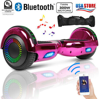$ CDN39.41 • Buy 6.5  Hoverboard Bluetooth LED Electric Self Balancing Scooter With Bag Best Gift