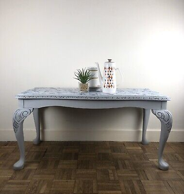 Vintage Upcycled Coffee Table With Fabric Top • 70£