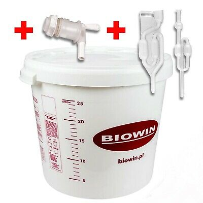 30 Litre Fermenting/fermentation Bucket Vessel With Airlock Home Brew Beer Uk • 19.89£