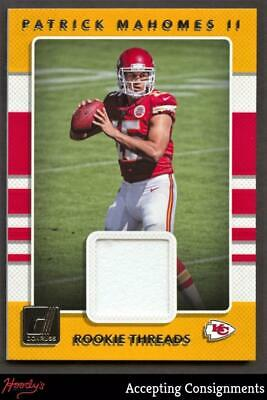 $3.25 • Buy 2017 Donruss Rookie Threads Red #7 Patrick Mahomes II CHIEFS JERSEY Relic RC