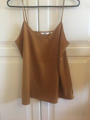 AU11 • Buy Uniqlo Womens Top Single Cami Mustard Small / Medium