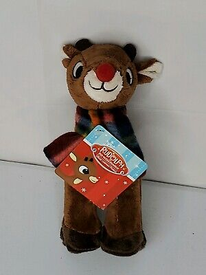 $9.99 • Buy Rudolph The Red Nosed Reindeer Stuffed Animal Plush Plaid Fleece Scarf 7in NWT