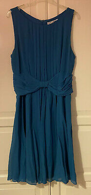 AU80.39 • Buy Lovely LK Bennett Blue Silk Dress Size UK 14