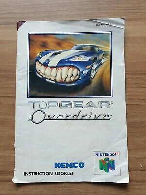 AU6 • Buy Top Gear Overdrive Nintendo 64 MANUAL ONLY Pal