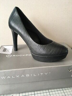 ROCKPORT Real Leather LADIES JANAE PUMP OCEAN LIZARD SIZE UK 4 • 7.99£