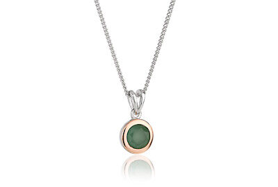 NEW Welsh Clogau Silver & Rose Gold Aventurine Pendant £80 OFF! RARE! 18  • 59£