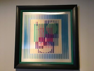 $1550 • Buy Yaacov Agam, 'Limited Infinity' Agamograph, Signed, Framed, With COA