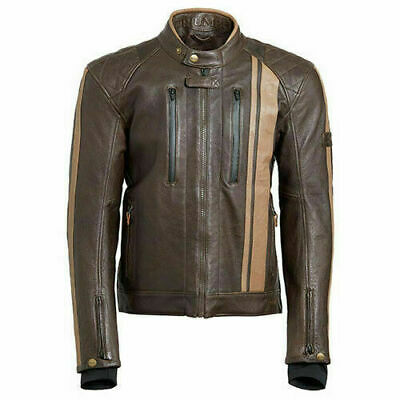 Mlhc18414 -xxl Genuine Triumph Raven Gtx Brown Leather Jacket Size Xxlarge • 265£