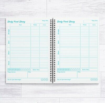 £6.99 • Buy A5 Calorie Counting 12 Week Food Diary Book - 84 Daily Food Diaries In A Book
