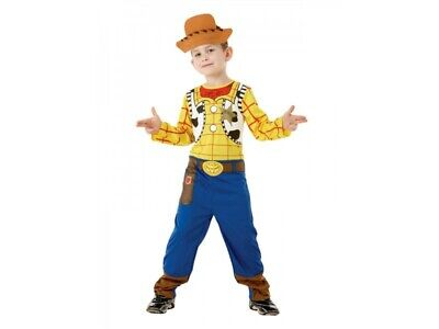 Classic Woody Boys Costume Toy Story Fancy Dress Child Book Day Outfit • 16£