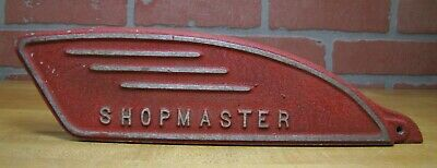 $99 • Buy Old SHOPMASTER Equipment Machinery Nameplate Sign Shop Machine Salvage Part Ad