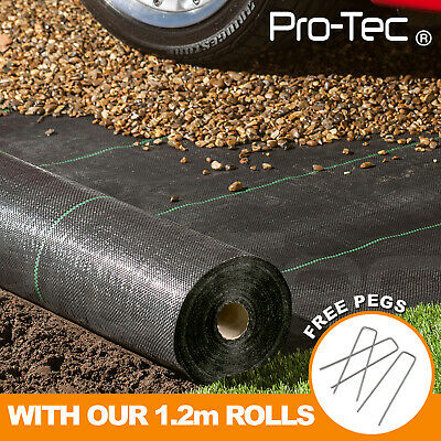 £24.99 • Buy 1,2,3,4m,wide 100gsm Weed Control Fabric Ground Cover Membrane Garden Landscape