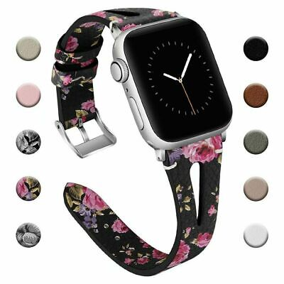 AU13.99 • Buy For Apple Watch Series 5 4 3 2 1 Leather IWatch Band Wrist Strap 38/40/42/44mm