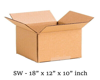£6.49 • Buy 5 X Extra Large Cardboard Storage Packing Moving House Boxes SINGLE Wall NEW