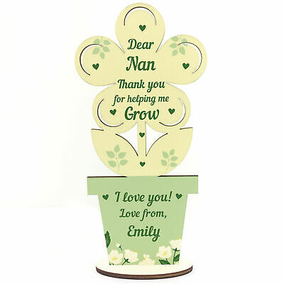 £4.99 • Buy Personalised Nan Thank You Love Mothers Day Gift From Grandaughter Grandson
