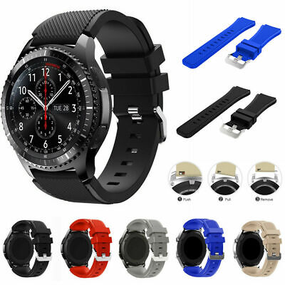 AU5.29 • Buy Silicone Watch Band Bracelet Strap For Samsung Gear S3 Frontier Classic