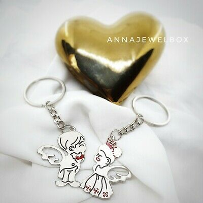 Valentines Day Romantic Gift For Him Her Keyring Love Couple Girlfriend Keychain • 2.55£