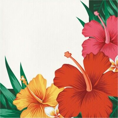 Tropical Flowers Lunch Napkins 16 Pack Luau Party Supplies Decorations • 2.07£