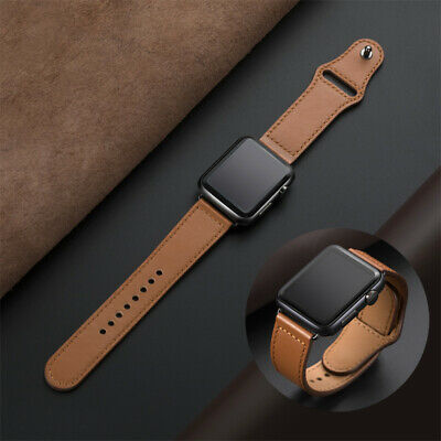 AU13.99 • Buy Leather Loop Band For Apple Watch  5 4 3 2 Bracelet Strap 38 42 40 44MM AU Stock