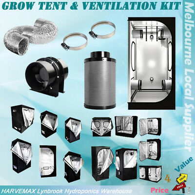 AU252 • Buy Hydroponics Metal Connectors Grow Tent Fan Ducting Carbon Filter Exhaust Kit