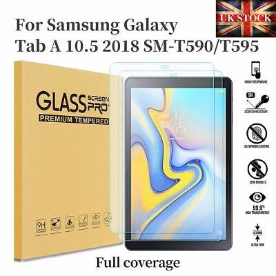 Tempered Glass Screen Protector For Samsung Galaxy Tab A 10.5 2018 SM-T590 T595 • 4.45£