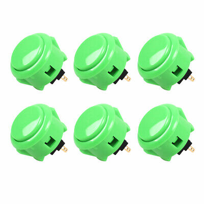 $15.99 • Buy 6x Sanwa Buttons OBSF-30 Green Arcade Buttons For Arcade Joystick Games Console