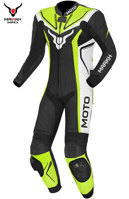 $290 • Buy Motorbike Custom Racing Motorcycle Protective Leather Suit 1PC & 2PC