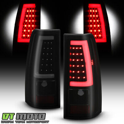 $164.99 • Buy 2003-2006 Chevy Silverado 1500 2500 3500 Black Smoked LED Tube Tail Lights Lamps