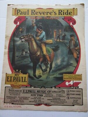 $12 • Buy Sheet Music 1905 Paul Revere's Ride March-Twostep By E.T. Paull
