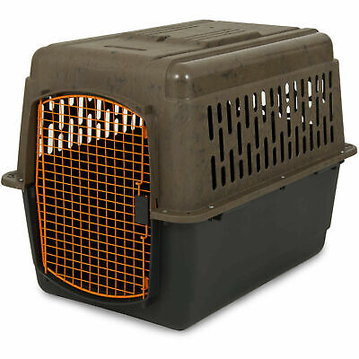 $87.26 • Buy Dog Crate Large Travel Plastic Airline Approved Pet Kennel 32  Cage 30-50 Lbs