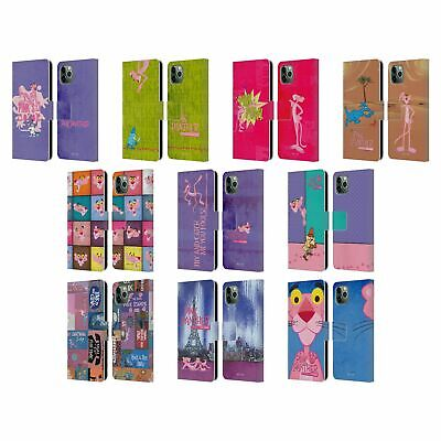 OFFICIAL THE PINK PANTHER PINK FUN LEATHER BOOK CASE FOR APPLE IPHONE PHONES • 14.95£