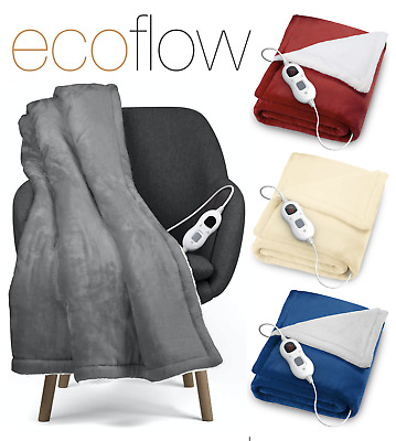 Electric Heated Throw Over Blanket Super Soft Fleece Available In 3 Colours • 34.95£