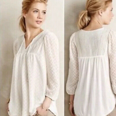 $ CDN46.40 • Buy Anthropologie One September White Gold Blouse Tunic Top Large