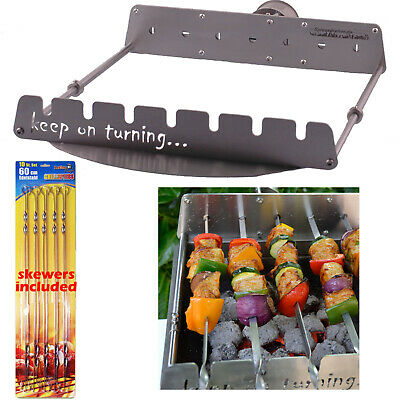 $ CDN264.59 • Buy 7 Skewer Rotating Rotisserie Set For 22  Round Weber Kettle BBQ Charcoal Grill
