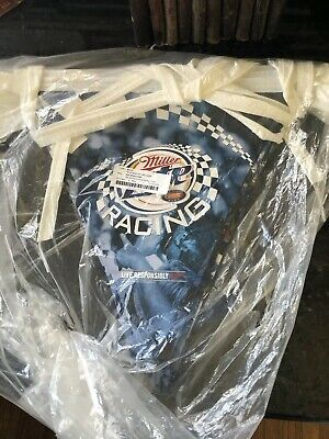 $40 • Buy RARE Miller Lite Race Flags Banner Aprox. 40' Tailgate Party Decor New