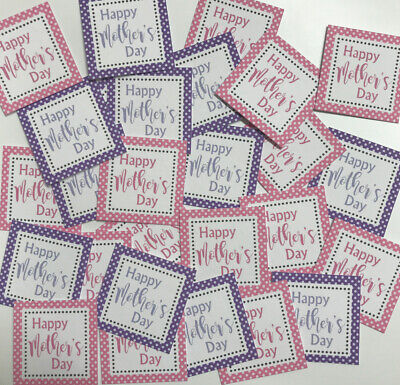 £1.89 • Buy 25 Small Square 3cm Sentiments/Banners HAPPY MOTHERS DAY Hand Made Card Toppers