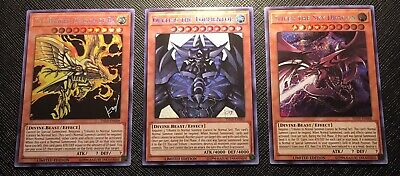 AU20 • Buy All 3 Egyptian God Cards - Yu-gi-oh - Prismatic - Limited Edition- Tcg - Mint