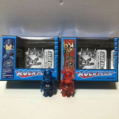 $99.99 • Buy BE@RBRICK 100% ROCKMAN & BLUES Set Lot Of 2 Rare Medicom Bearbrick From Japan