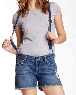 $47 • Buy James Jeans Corky Slouchy Fit Suspender Boy Shorts 28 NWT $172